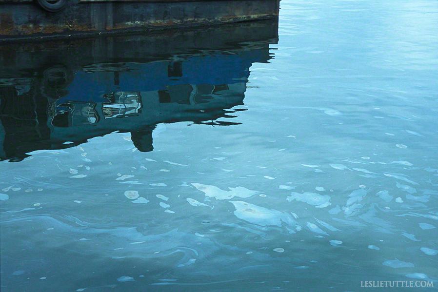 Havana Harbor Oil Slick In Blue