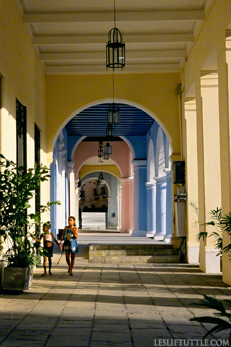 Havana Cuba Renovated Pastel Arches