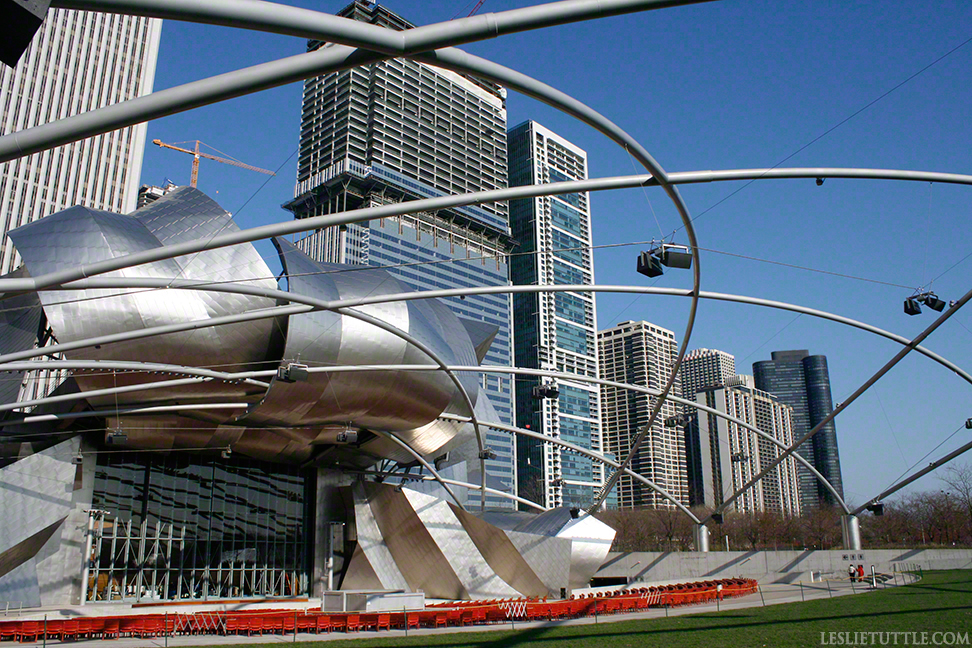 Pritzer Music Pavillion Chicago Frank Gehry