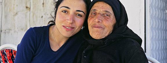 Çigdem and her grandmother