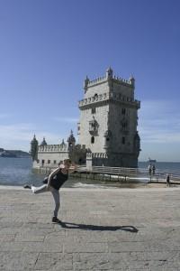 Dancer mimics tower